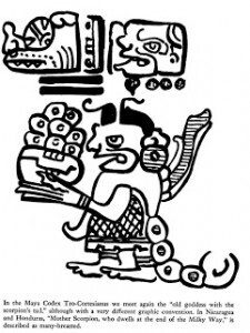 Scorpion goddess Mayan Codex